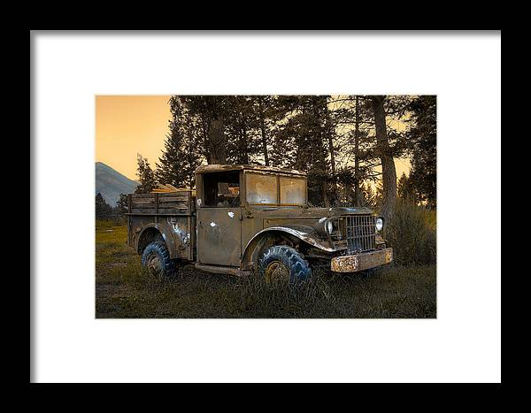 Rockies Framed Print featuring the photograph Rockies Transport by Wayne Sherriff