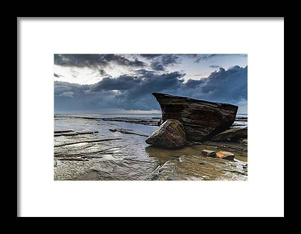 Australia Framed Print featuring the photograph Rockin The Seascape by Merrillie Redden