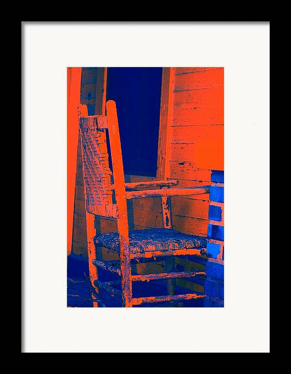 Chair Framed Print featuring the digital art Rocking Chair by Lisa Johnston