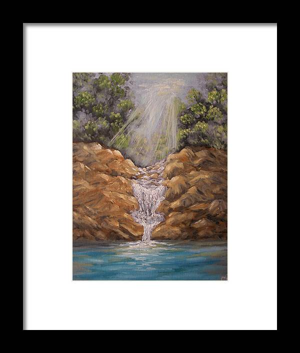Waterfall Framed Print featuring the painting Rockledge Falls by Carrie Mayotte
