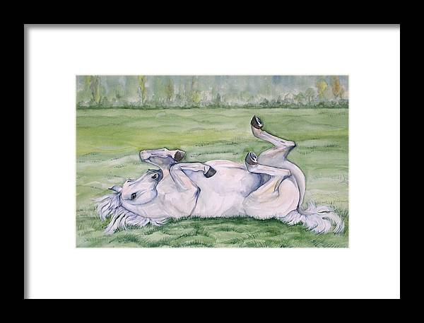 Equine Framed Print featuring the painting Rocknroll by Gina Hall