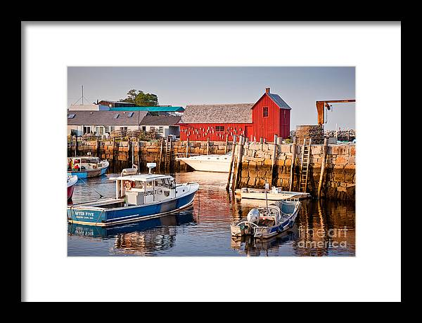 Boat Framed Print featuring the photograph Rockport Motif by Susan Cole Kelly