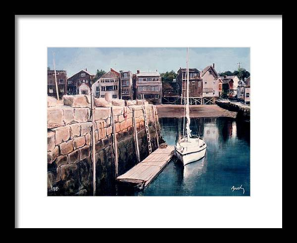 Landscape Framed Print featuring the painting Rockport by William Brody