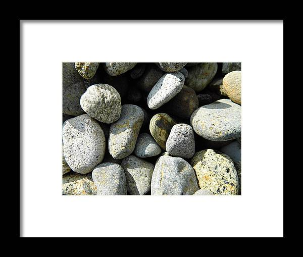 Rock Framed Print featuring the digital art Rocks by Palzattila