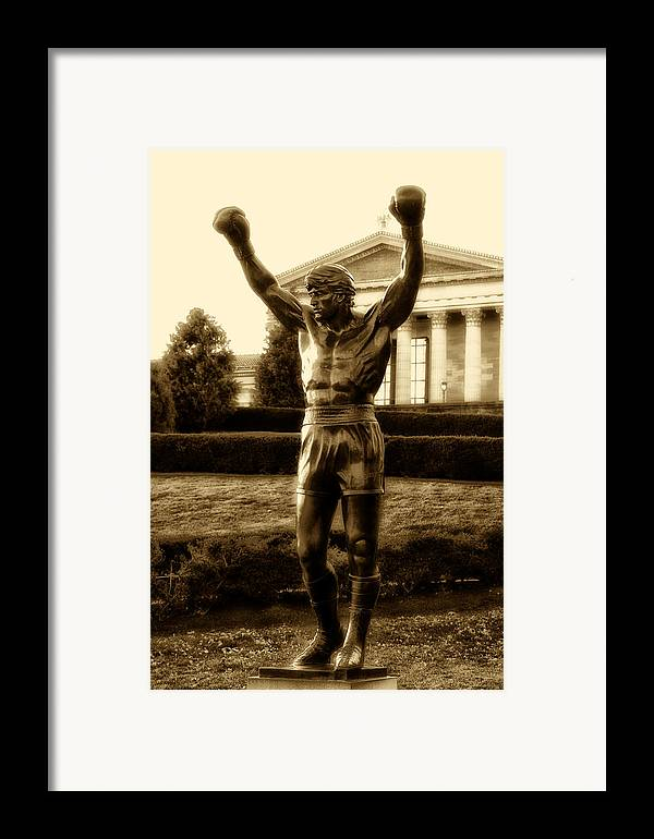 Sports Framed Print featuring the photograph Rocky - Heart Of A Champion by Bill Cannon