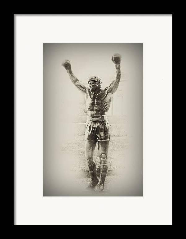 Rocky Balboa Framed Print featuring the photograph Rocky by Bill Cannon