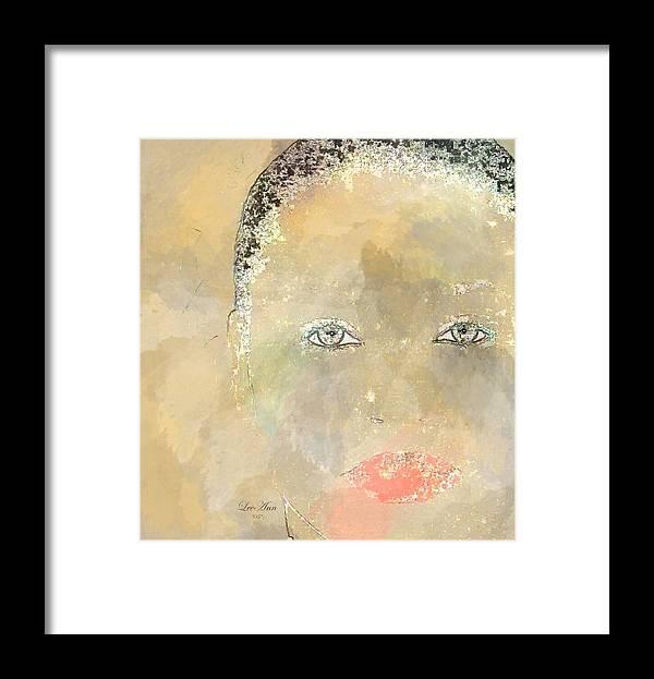 Portrait Framed Print featuring the digital art Rocky by LeeAnn Alexander