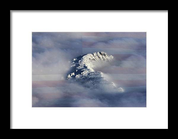 Rocky Mountains Framed Print featuring the photograph Rocky Mountain High - America The Beautiful by James BO Insogna