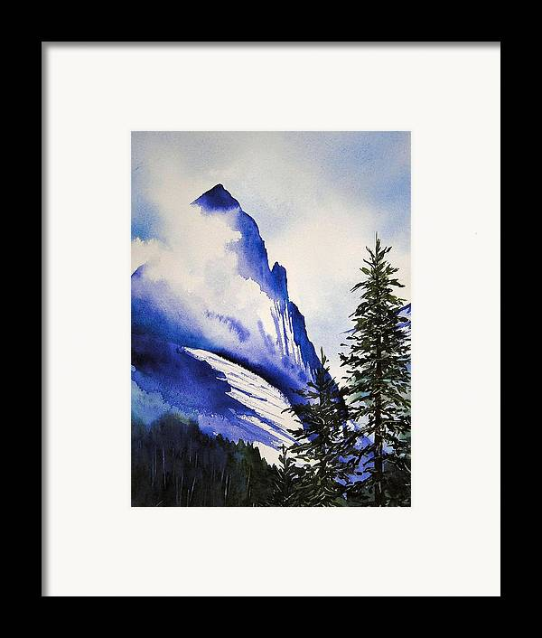 Rocky Mountains Framed Print featuring the painting Rocky Mountain High by Karen Stark