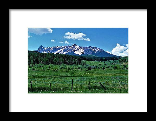 Rocky Mountains Framed Print featuring the photograph Rocky Mountain High by Kathleen Barngrover
