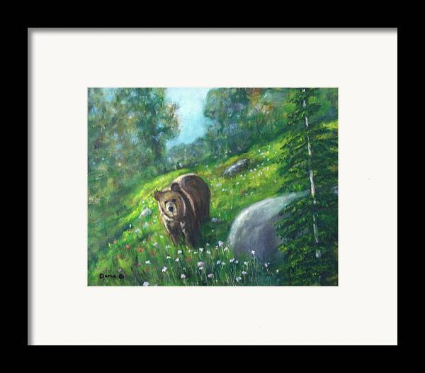 Wildlife Framed Print featuring the painting Rocky Mountain Spring by Darla Joy Johnson