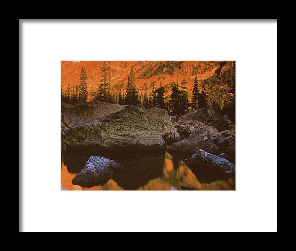 Landscape Framed Print featuring the photograph Rocky Mountain Sunrise by Vicky Brago-Mitchell
