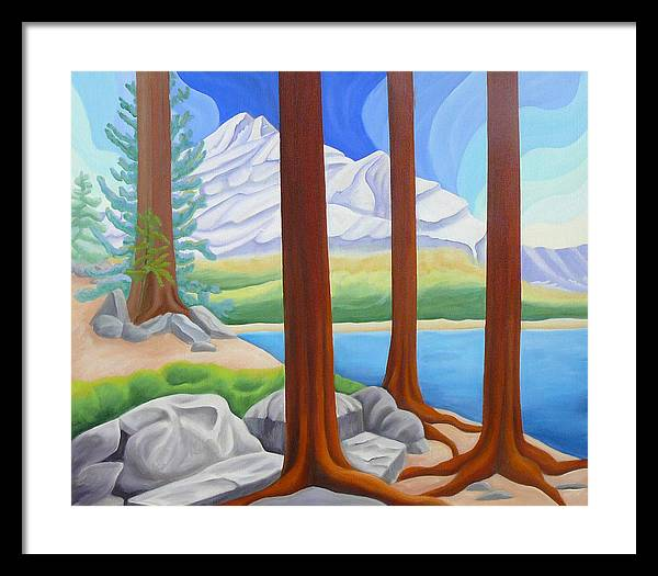 Landscape Framed Print featuring the painting Rocky Mountain View 1 by Lynn Soehner