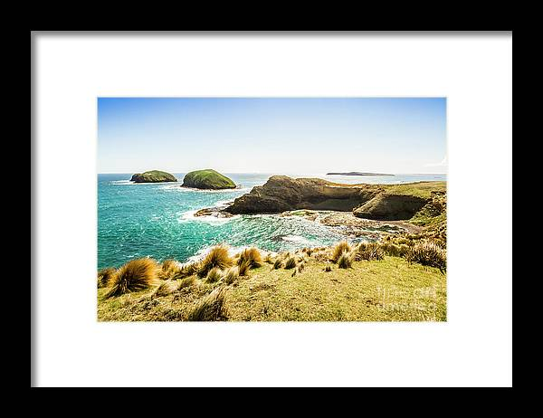 Landscape Framed Print featuring the photograph Rocky Ocean Capes by Jorgo Photography - Wall Art Gallery
