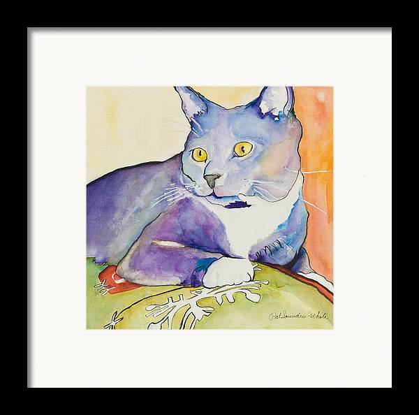 Pat Saunders-white Framed Print featuring the painting Rocky by Pat Saunders-White