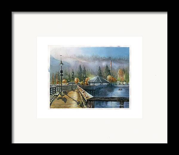 Landscape Framed Print featuring the painting Rocky Point Park by Dumitru Barliga