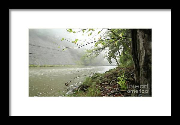 Fog Framed Print featuring the photograph Rocky River #1 by Alexander Belisle