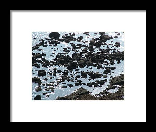 Beach Framed Print featuring the photograph Rocky Shore by John Loyd Rushing