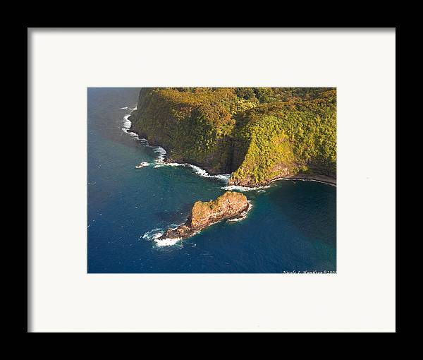Landscape Framed Print featuring the photograph Rocky Shore by Nicole I Hamilton