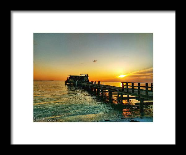 Sunrise Framed Print featuring the photograph Rod And Reel Pier Sunrise 2 by Allen Williamson