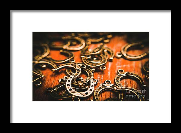 Metal Framed Print featuring the photograph Rodeo Abstract by Jorgo Photography - Wall Art Gallery