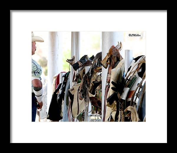 Rodeo Framed Print featuring the photograph Rodeo Gear by Carol Miller