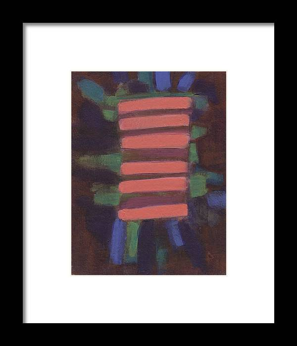 Abstract Framed Print featuring the painting Rods 1 by Jean Beal