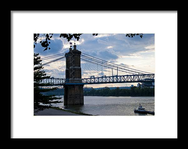 Ohio River Framed Print featuring the photograph Roebeling by Russell Todd