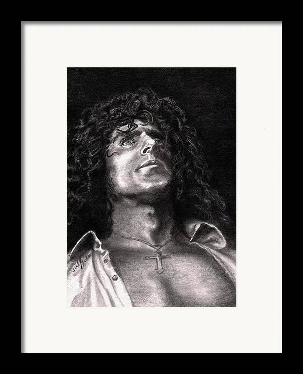 Roger Daltry Framed Print featuring the drawing Roger Daltry by Kathleen Kelly Thompson