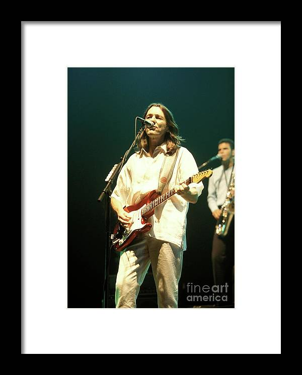 Rock Framed Print featuring the photograph Roger Hodgson by Concert Photos