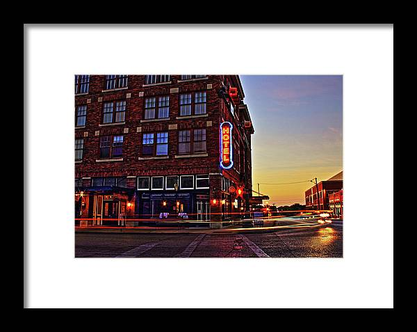 Hotel Framed Print featuring the photograph Roger's Hotel by Daniel Koglin