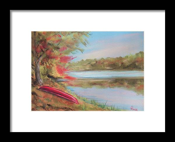 Canoe Framed Print featuring the painting Rogue River by Pete Maier