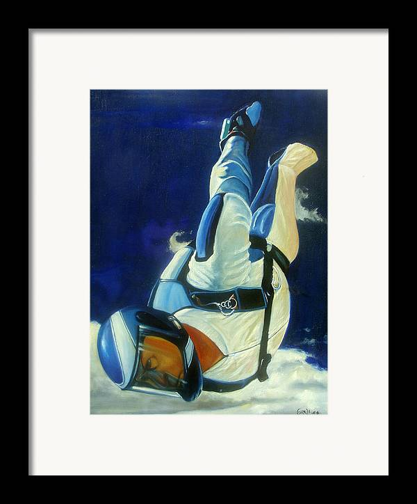 Figure Framed Print featuring the painting Rogue by T Ezell