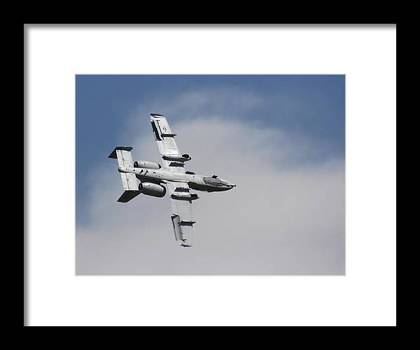 Airplane Framed Print featuring the photograph Roll Over Wafb 09 A10 Thunderbolt 2 by David Dunham