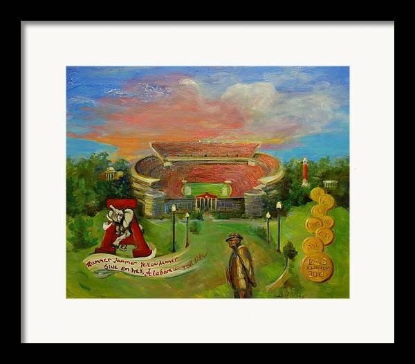 Roll Tide Framed Print featuring the painting Roll Tide by Ann Bailey