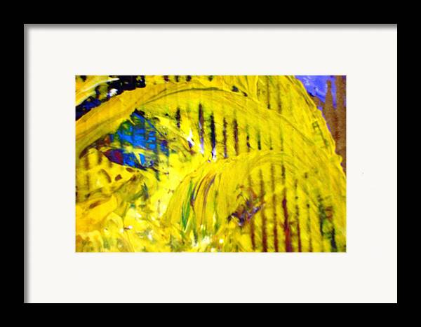 Yellow Framed Print featuring the painting Roller Coaster From Roller Coaster by Bruce Combs - REACH BEYOND