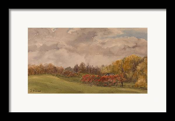 Fields Framed Print featuring the painting Rolling Fields In The Fall by Debbie Homewood