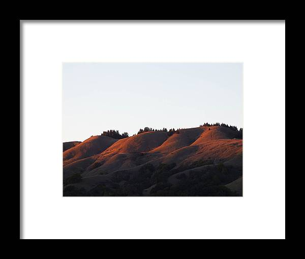 Hills Framed Print featuring the photograph Rolling Hills Of San Geronimo At Sunset by Andrea Freeman