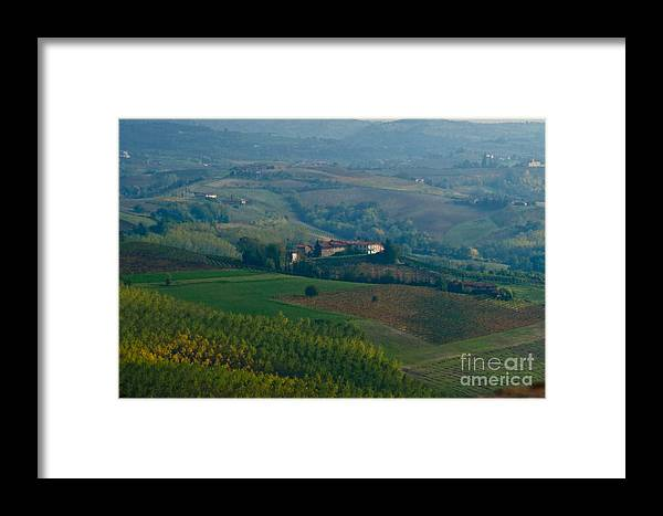 Italy Framed Print featuring the photograph Rolling Hills Of The Piemonte Region by Carl Jackson