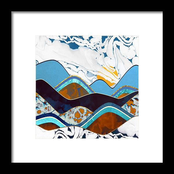 Hills Framed Print featuring the digital art Rolling Hills by Spacefrog Designs