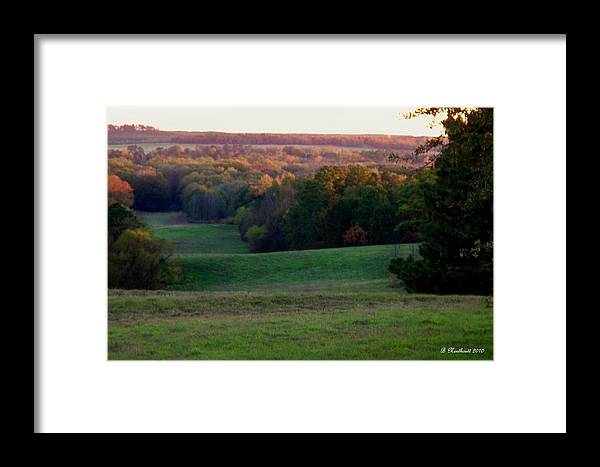 Landscape Framed Print featuring the photograph Rolling Meadow by Betty Northcutt