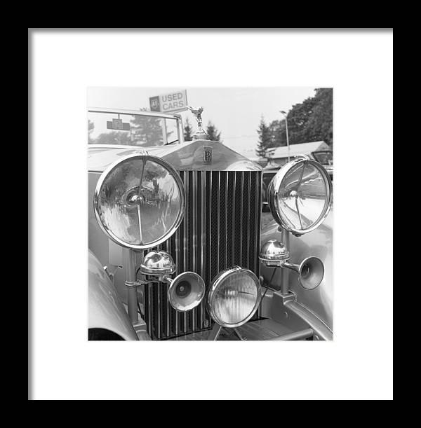 Car Framed Print featuring the photograph Rolls Royce A1 Used Car by Richard Singleton