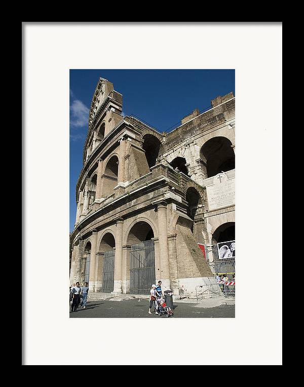 Coliseum Framed Print featuring the photograph Roman Coliseum by Charles Ridgway