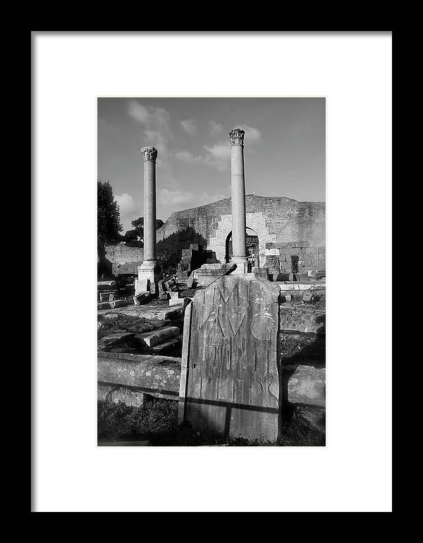 Rome Framed Print featuring the photograph Roman Forum by Jason Wolters