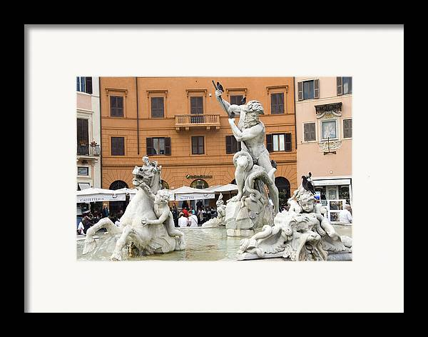 Rome Framed Print featuring the photograph Roman Fountain by Charles Ridgway