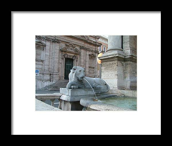 Lion Framed Print featuring the photograph Roman Lion by Mindy Newman