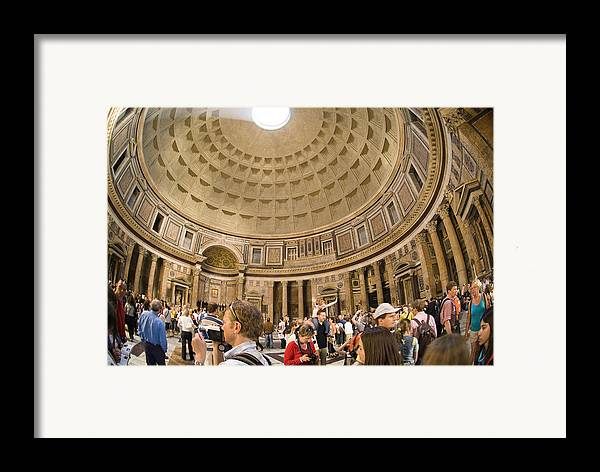 Panteon Framed Print featuring the photograph Roman Pantheon by Charles Ridgway