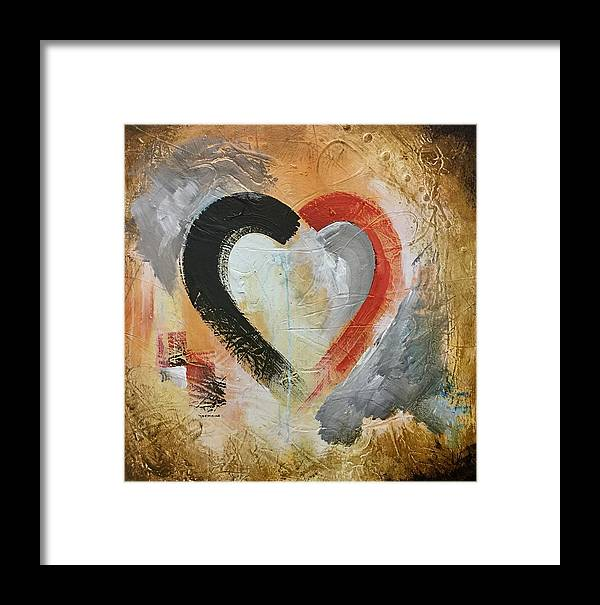 Hearts Framed Print featuring the painting Romance by Germaine Fine Art