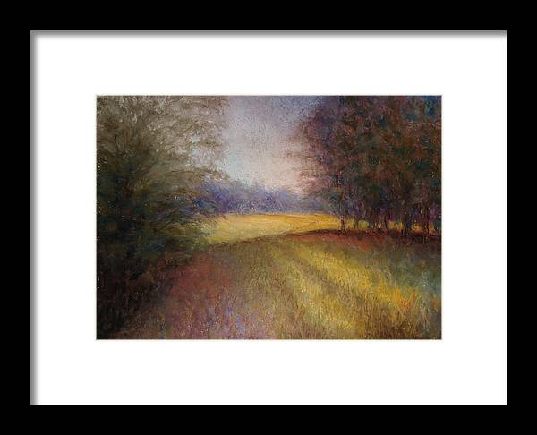 Lanscape Framed Print featuring the painting Romance Trail by Susan Jenkins