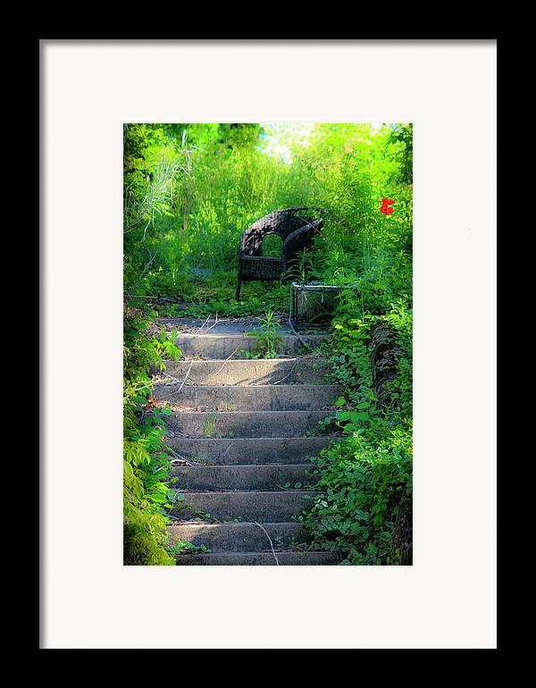 Garden Framed Print featuring the photograph Romantic Garden Scene by Teresa Mucha